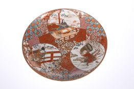 A JAPANESE KUTANI CHARGER, LATE 19TH CENTURY