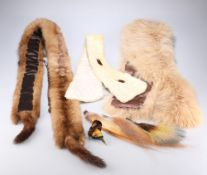 AN ERMINE FUR STOLE; A MINK FUR STOLE AND ANOTHER FUR STOLE