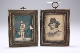 A PAIR OF 19TH CENTURY HEAVY BRASS PICTURE FRAMES