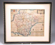 BLOME, A MAPP OF DEVON SHIRE