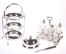 THREE SILVER PLATED ITEMS