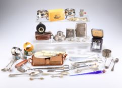 A QUANTITY OF SILVER AND SILVER-PLATED ITEMS