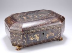 A CHINESE EXPORT LACQUER BOX
