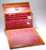 A LATE VICTORIAN GOLDEN OAK TABLE-TOP DESK