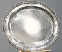 AN OLD SHEFFIELD PLATE MEAT DISH, CIRCA 1820