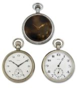 A GROUP OF THREE MILITARY POCKET WATCHES