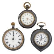 A GROUP OF THREE FOB WATCHES