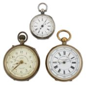 A GROUP OF THREE POCKET WATCHES