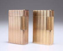TWO DUPONT GOLD-PLATED LIGHTERS