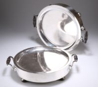 A PAIR OF OLD SHEFFIELD PLATE WARMING DISHES