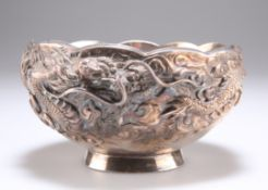 A CHINESE SILVER BOWL, LATE 19TH CENTURY