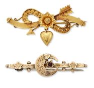 TWO LATE VICTORIAN BROOCHES