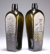 A PAIR OF DUTCH GENEVA GIN BOTTLES