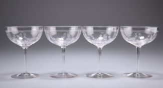 A SET OF FOUR BACCARAT DESSERT WINE GLASSES