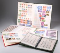 STAMPS: 2 LARGE AND 3 SMALL STOCK BOOKS