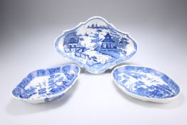 THREE EARLY 19TH CENTURY PEARLWARE DISHES