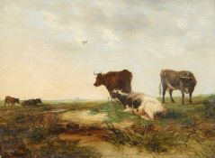 ENGLISH SCHOOL (19TH CENTURY), CATTLE IN A LANDSCAPE