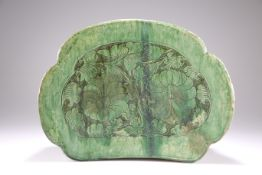 A LARGE 'CIZHOU' GREEN-GLAZED PILLOW, SONG DYNASTY