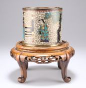 A CHINESE CLOISONNE BRUSH POT