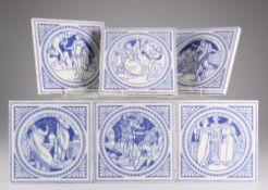 JOHN MOYR SMITH (1839-1912), SIX MINTONS SHAKESPEARE SERIES TILES