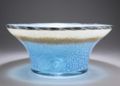 A LARGE CONTEMPORARY ART GLASS BOWL