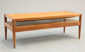 A DANISH TEAK COFFEE TABLE WITH REVERSIBLE TOP