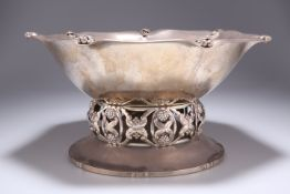 A DANISH SILVER CENTRE BOWL BY CHRISTIAN F. HEISE
