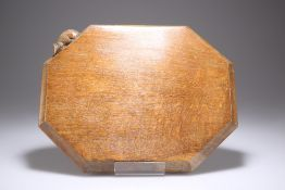 A MOUSEMAN OAK BREADBOARD BY ROBERT THOMPSON OF KILBURN
