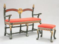 A SUITE OF SWEDISH ARTS AND CRAFTS PAINTED FURNITURE, C.1897