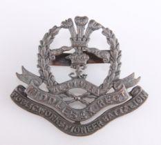 A WWI BRONZE OFFICERS' PATTERN SERVICE DRESS CAP BADGE