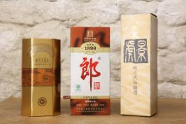 3 BOTTLES (INCLUDING 500 ML BOTTLES MIXED LOT CHINESE LIQUEUR