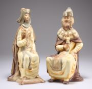 A PAIR OF LLADRO KING AND QUEEN FIGURES