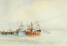 DAVID HOWELL, BOATS IN WHITBY HARBOUR ETC.