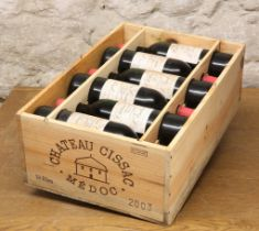 12 BOTTLES (IN OWC) CHATEAU CISSAC CRU BOURGEOIS MEDOC 2003