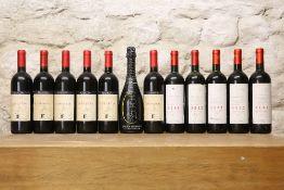 12 BOTTLES MIXED LOT GOOD ITALIAN DRINKING WINES COMPRISING