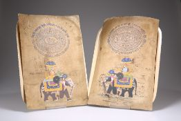 INDIAN SCHOOL (20TH CENTURY), CAPARISONED ELEPHANT AND HOWDAH