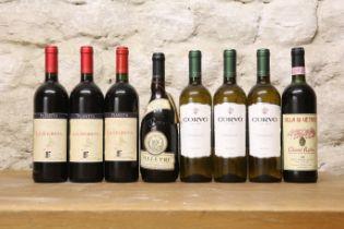8 BOTTLES MIXED LOT GOOD ITALIAN DRINKING WINES COMPRISING :