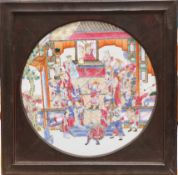 A 19TH CENTURY CHINESE FAMILLE ROSE PORCELAIN PANEL