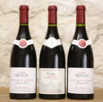 3 BOTTLES MIXED LOT FINE MATURE CLASSIC RED BURGUNDY FROM DOMAINE BERTAGNA COMPRISING : 2 BOTTLES NU