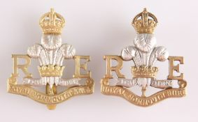 A GILT AND SILVER PLATE OFFICERS' PATTERN CAP BADGE