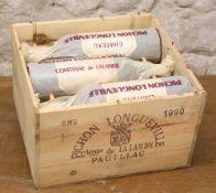 6 MAGNUMS (IN OWC) CHATEAU PICHON LONGUEVILLE COMTESSE DE LALANDE GRAND CRU CLASSE PAUILLAC 1990
