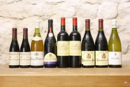 9 BOTTLES INCLUDING HALF BOTTLES MIXED LOT GOOD FRENCH 'FINE' WINES COMPRISING