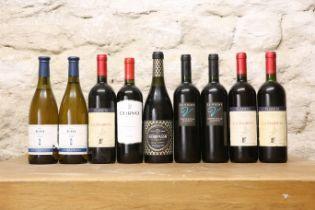9 BOTTLES MIXED LOT GOOD ITALIAN DRINKING WINES COMPRISING :