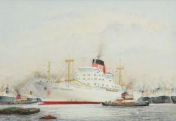 TOM HARWOOD (20TH CENTURY), CARGO SHIP, THE 'WILD CORMORANT'
