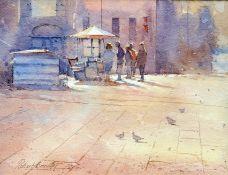 DAVID BRINDLEY (BORN 1949), CAMPO SANTO STEFANO, VENICE