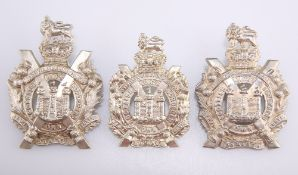 THREE EXAMPLES OF THE PRE 1902 OTHER RANKS' PATTERN GLENGARRY BADGE KOSB