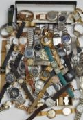 A LARGE QUANTITY OF FASHION AND OTHER WATCHES WATCHES