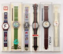 SIX ASSORTED SWATCH WATCHES