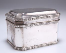 AN EDWARD VIII SILVER BISCUIT BOX