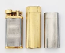 A GROUP OF THREE VINTAGE LIGHTERS